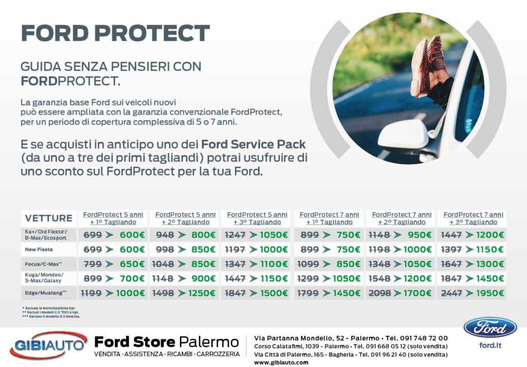 Pannello prezzi interventi officina Ford