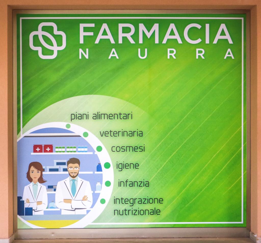 Vetrofania Farmacia Naurra