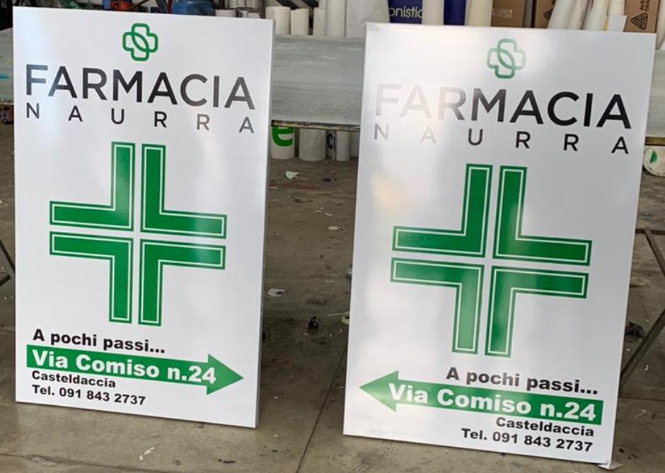Cartelli stradali Farmacia Naurra